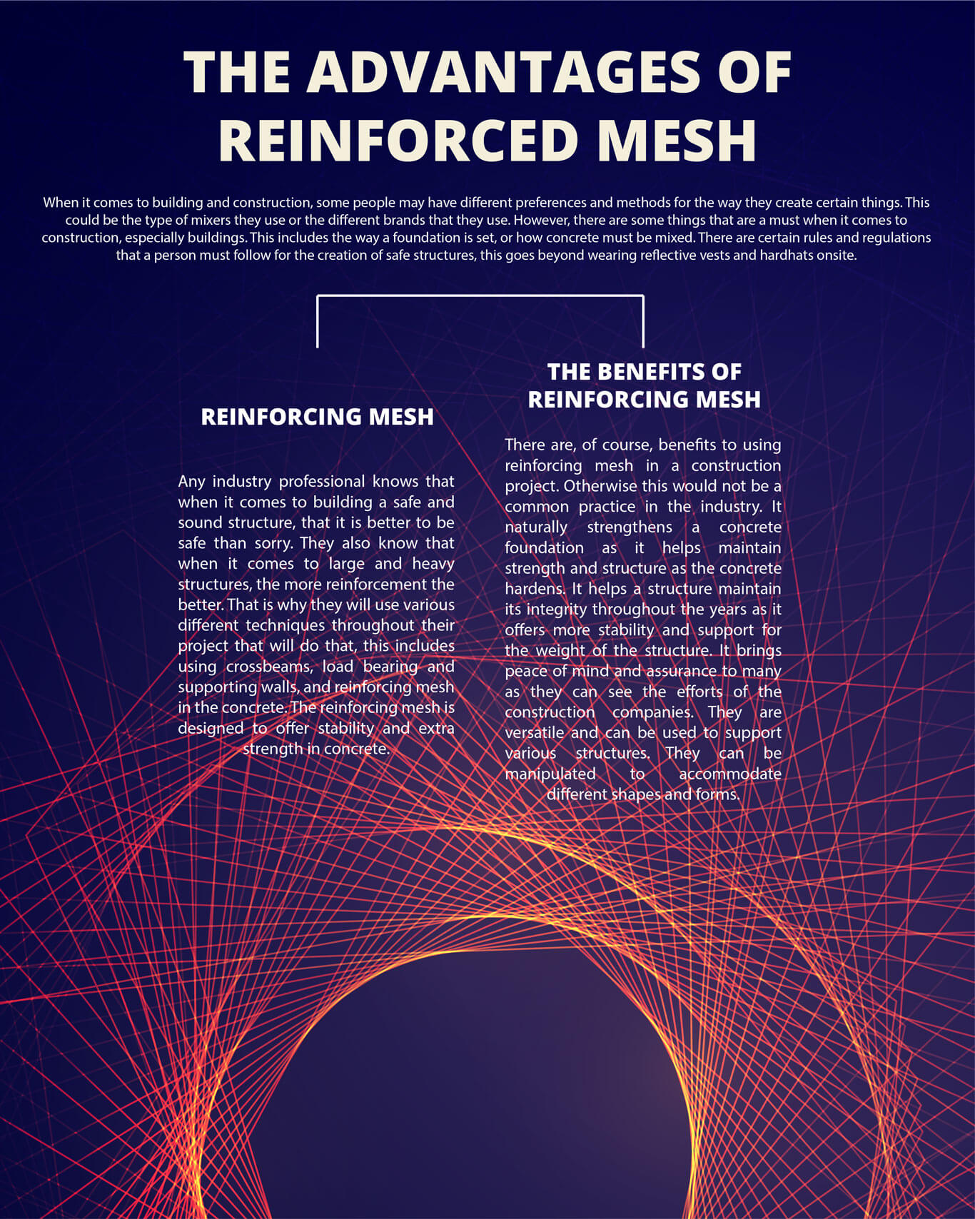The Advantages of Reinforcing Mesh