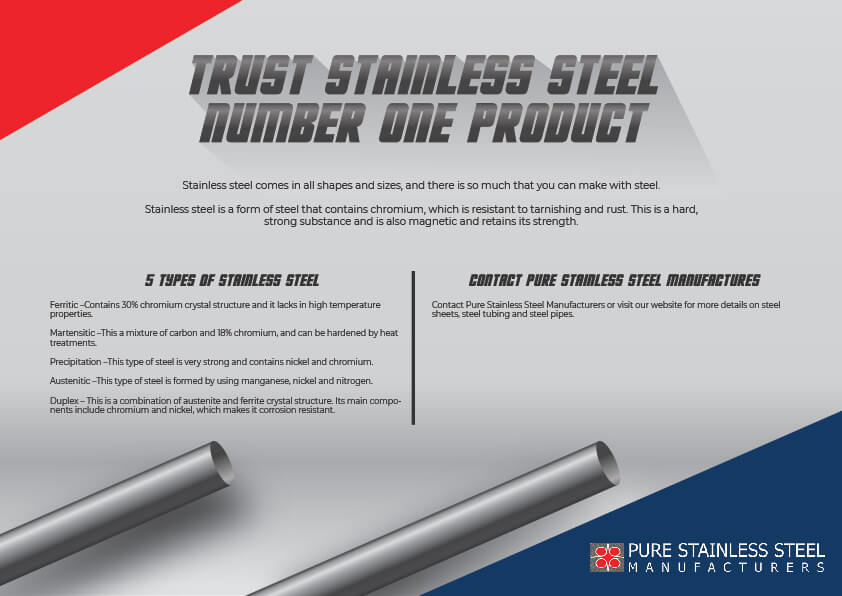 Trust Stainless Steel Number One Product